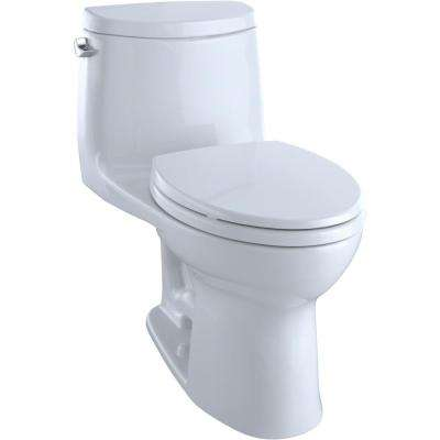 UltraMax II 1-Piece 1.28 GPF Single Flush Elongated Toilet with CeFiONtect in Cotton White