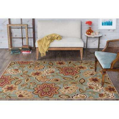 Majesty Seafoam 7 ft. 6 in. x 9 ft. 10 in. Transitional Area Rug