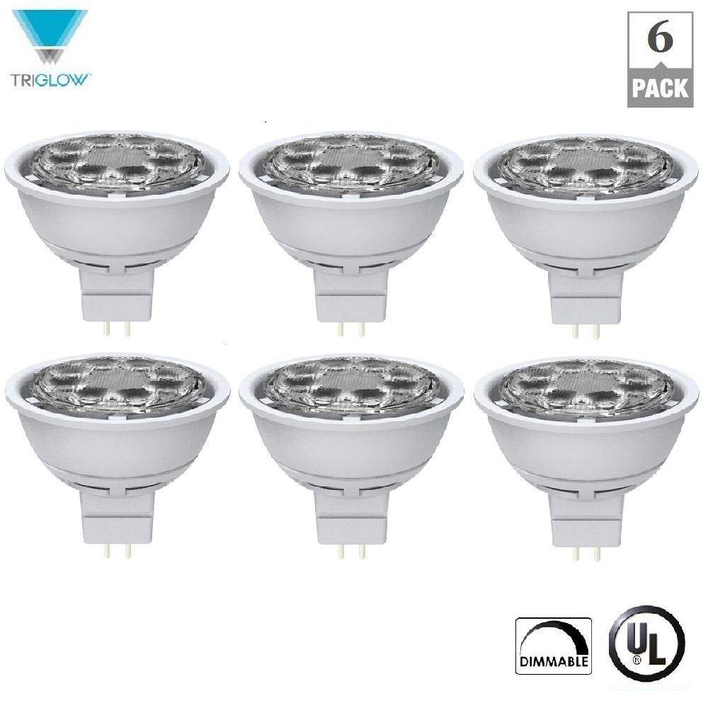 Mr16 Wide Flood: TriGlow 50-Watt Equivalent MR16 Dimmable Wide Flood