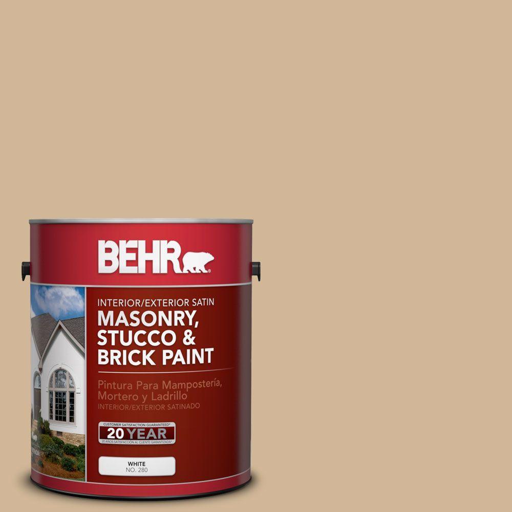 1-gal. #MS-29 Antique Gold Satin Interior/Exterior Masonry, Stucco and Brick Paint