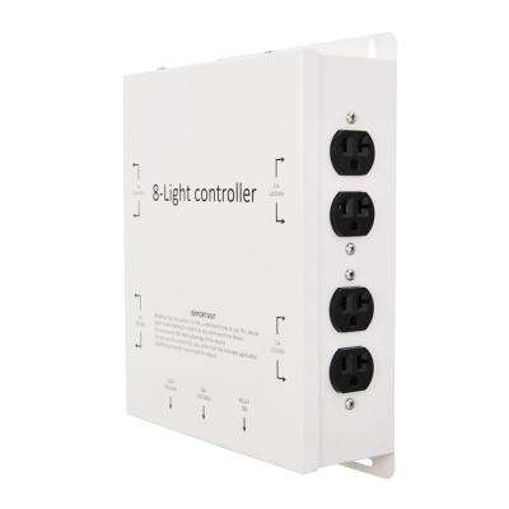 8-Outlet 120/240-Volt 8000-Watt Maximum Light Controller