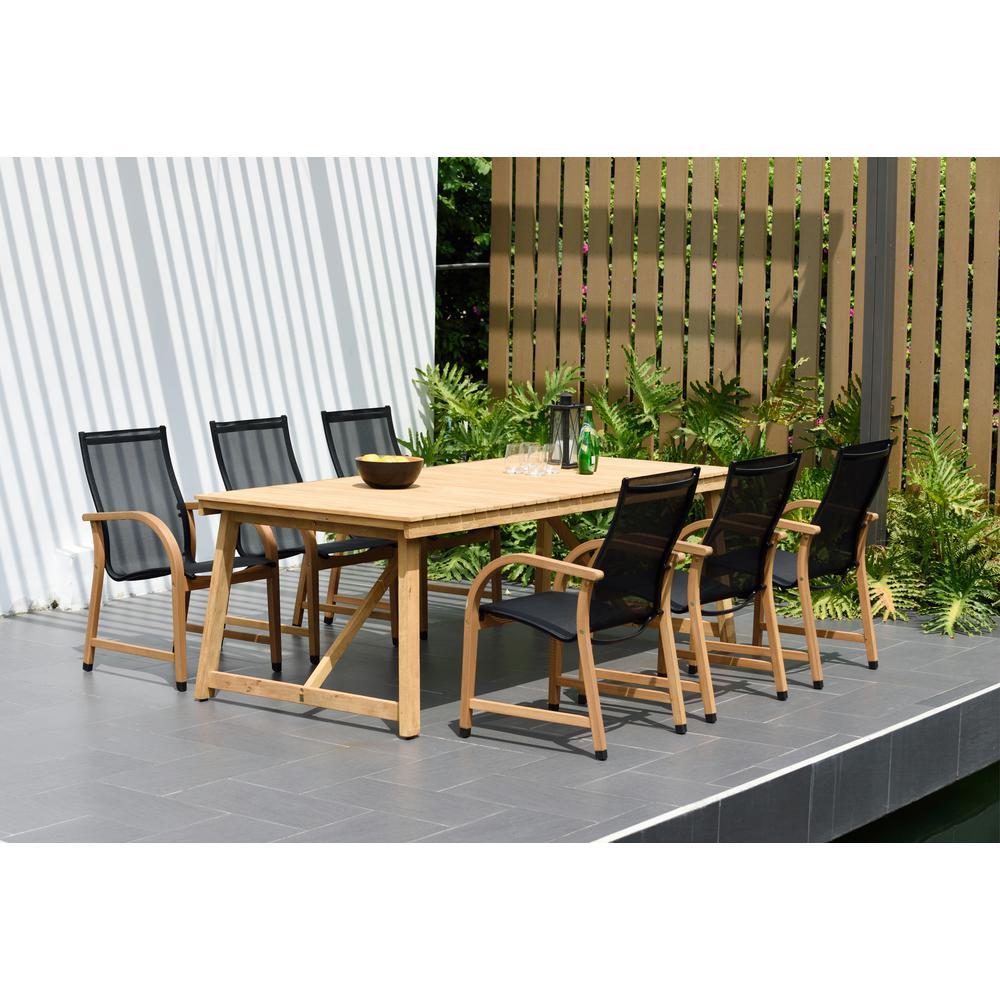 Bibury 7-Piece Teak Rectangular Outdoor Dining Set