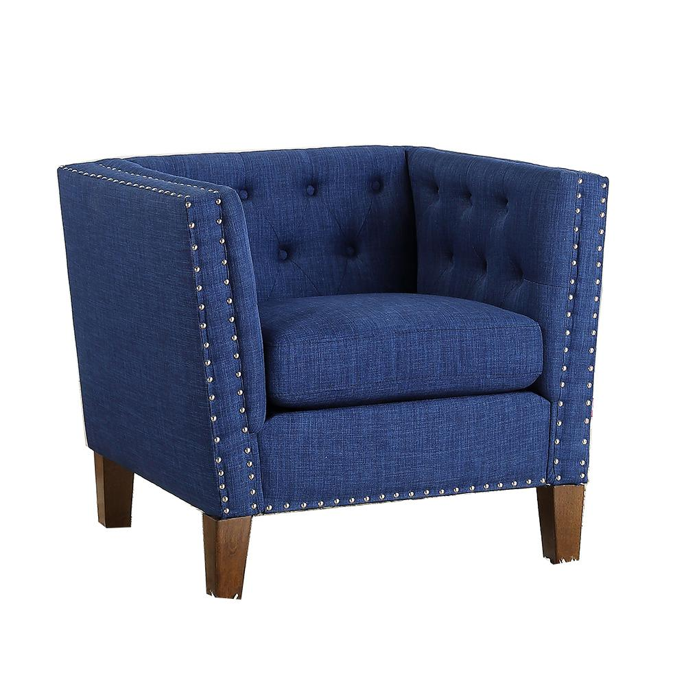 Putting Together A Steve Silver Accent Chair: Steve Silver Campbell Blue Accent Chair-CM850ACB