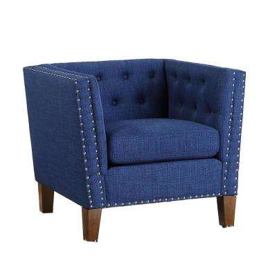 Campbell Blue Accent Chair