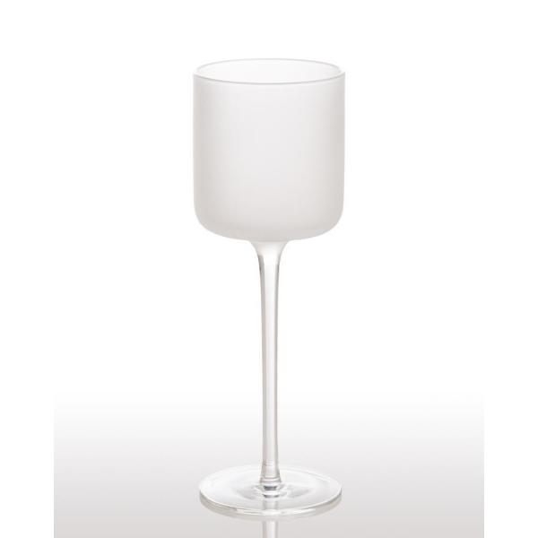 White Night Frosted Wine Glass