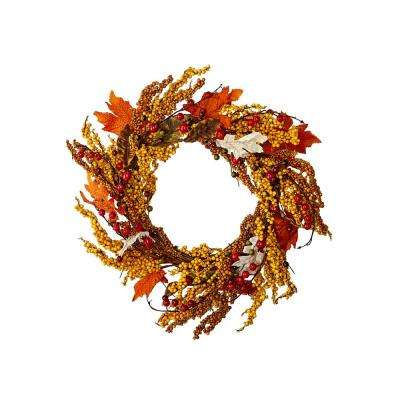 22 in. Fall Berries Wreath