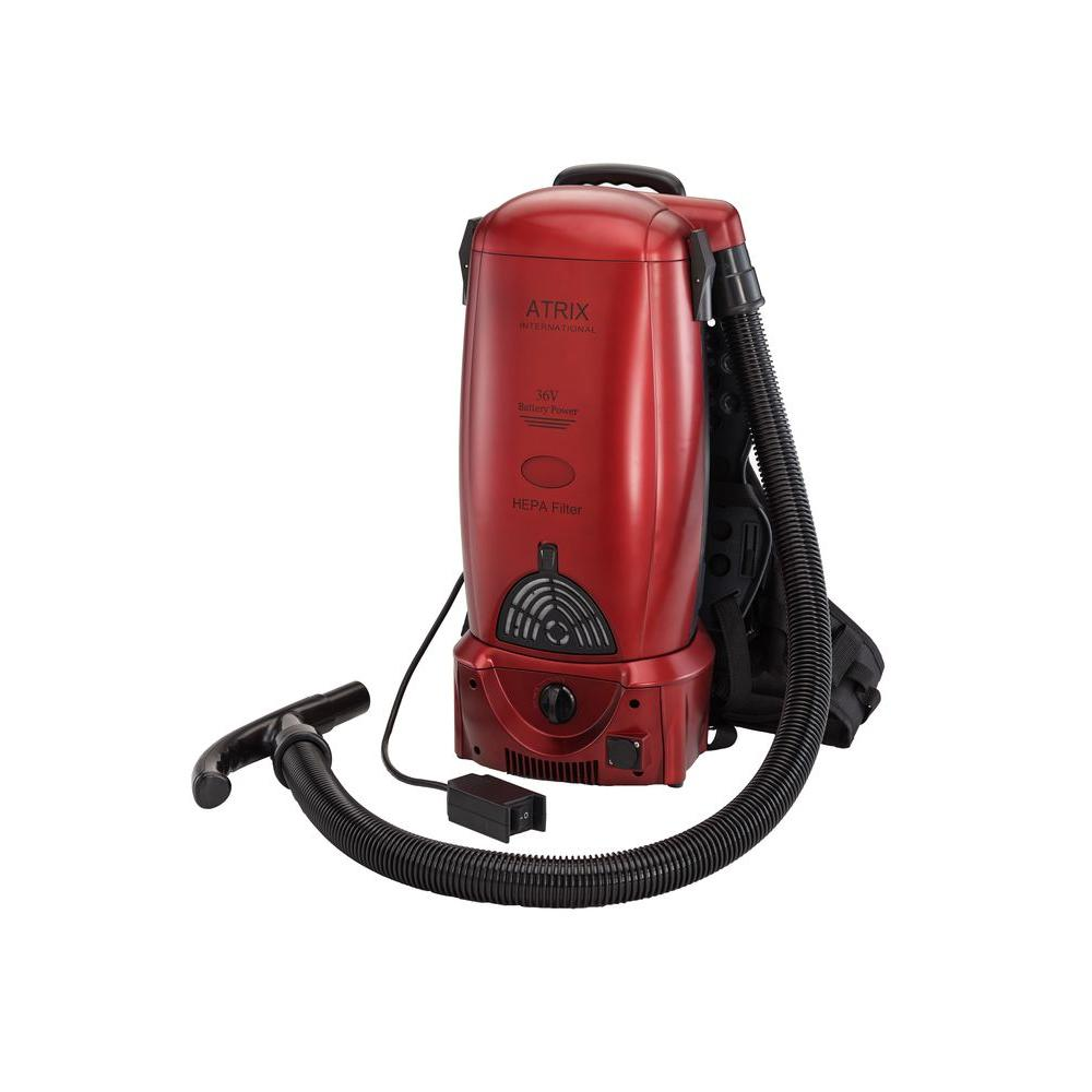 Atrix International Battery Backpack Vacuum in Red