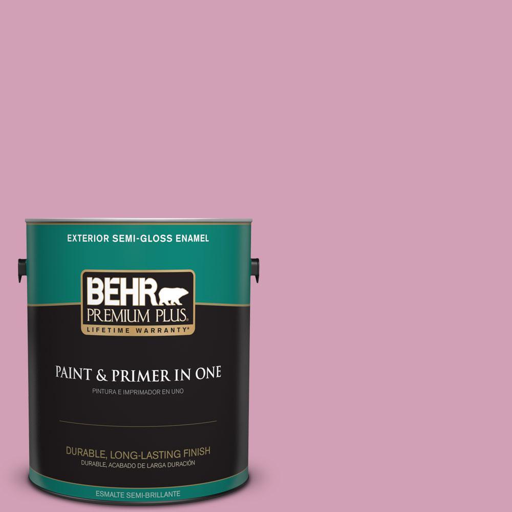 1-gal. #M130-4 Raspberry Smoothie Semi-Gloss Enamel Exterior Paint