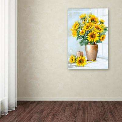 "47 in. x 30 in. ""Sunflowers"" by The Macneil Studio Printed Canvas Wall Art"