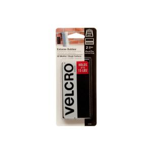 VELCRO Brand 4 inch x 2 inch Industrial Strength Extreme Strip, Black by VELCRO Brand