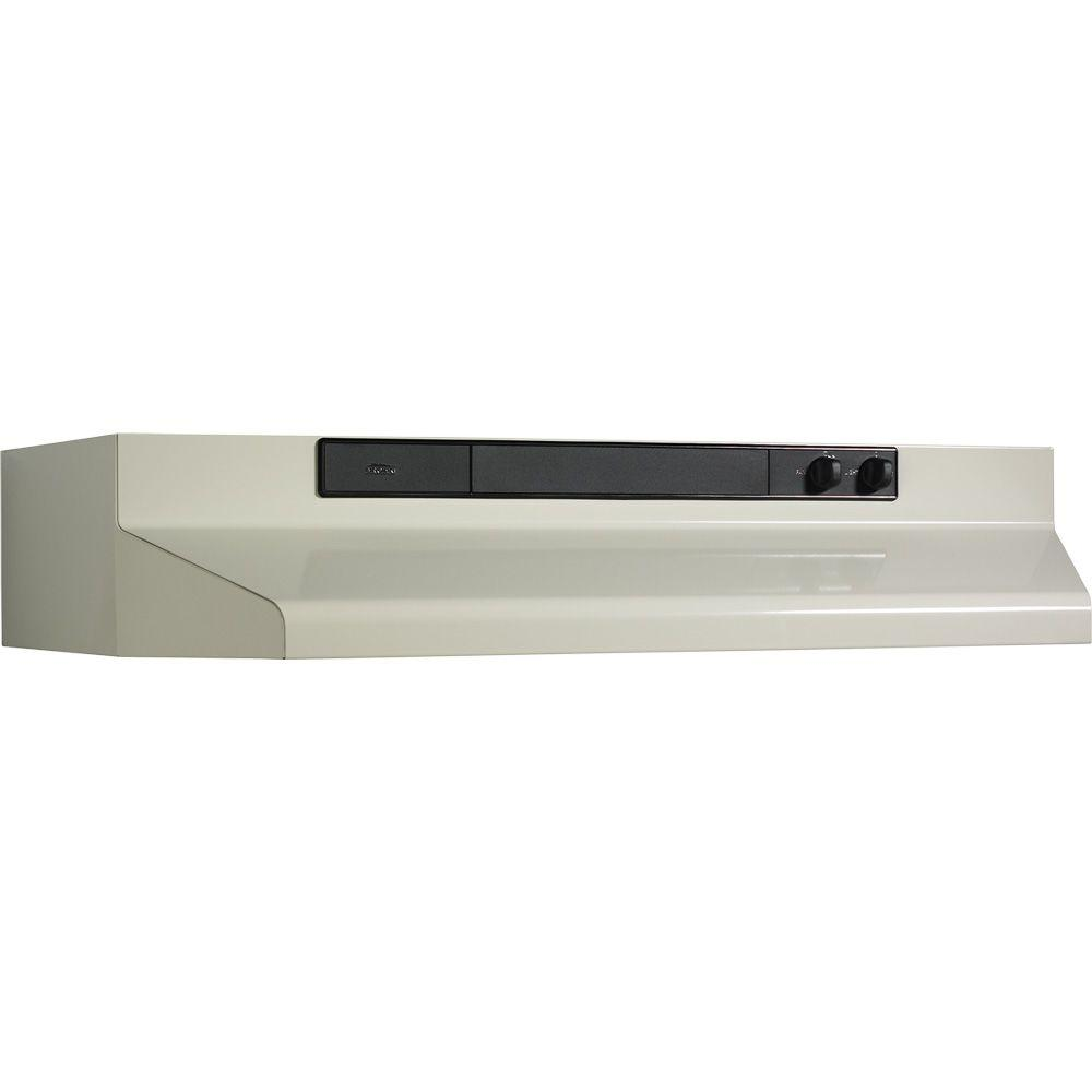 Broan 46000 Series 36 in. Convertible Range Hood in Biscuit