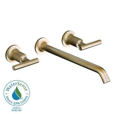 Purist 8 in. 2-Handle Wall Mount Bathroom Faucet Trim Only in Vibrant Brushed Bronze