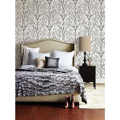 56.4 sq. ft. Delamere Black Tree Branches Wallpaper