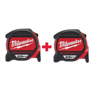 Milwaukee 25 ft. Premium Magnetic Tape Measure W/ Free 25 ft. Premium Magnetic Tape Measure by Milwaukee