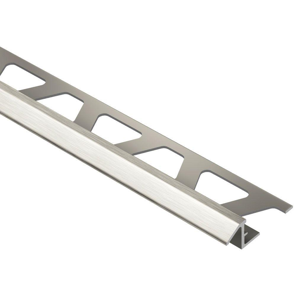 Schluter Reno Tk Brushed Nickel Anodized Aluminum 5 16 In X 8 Ft