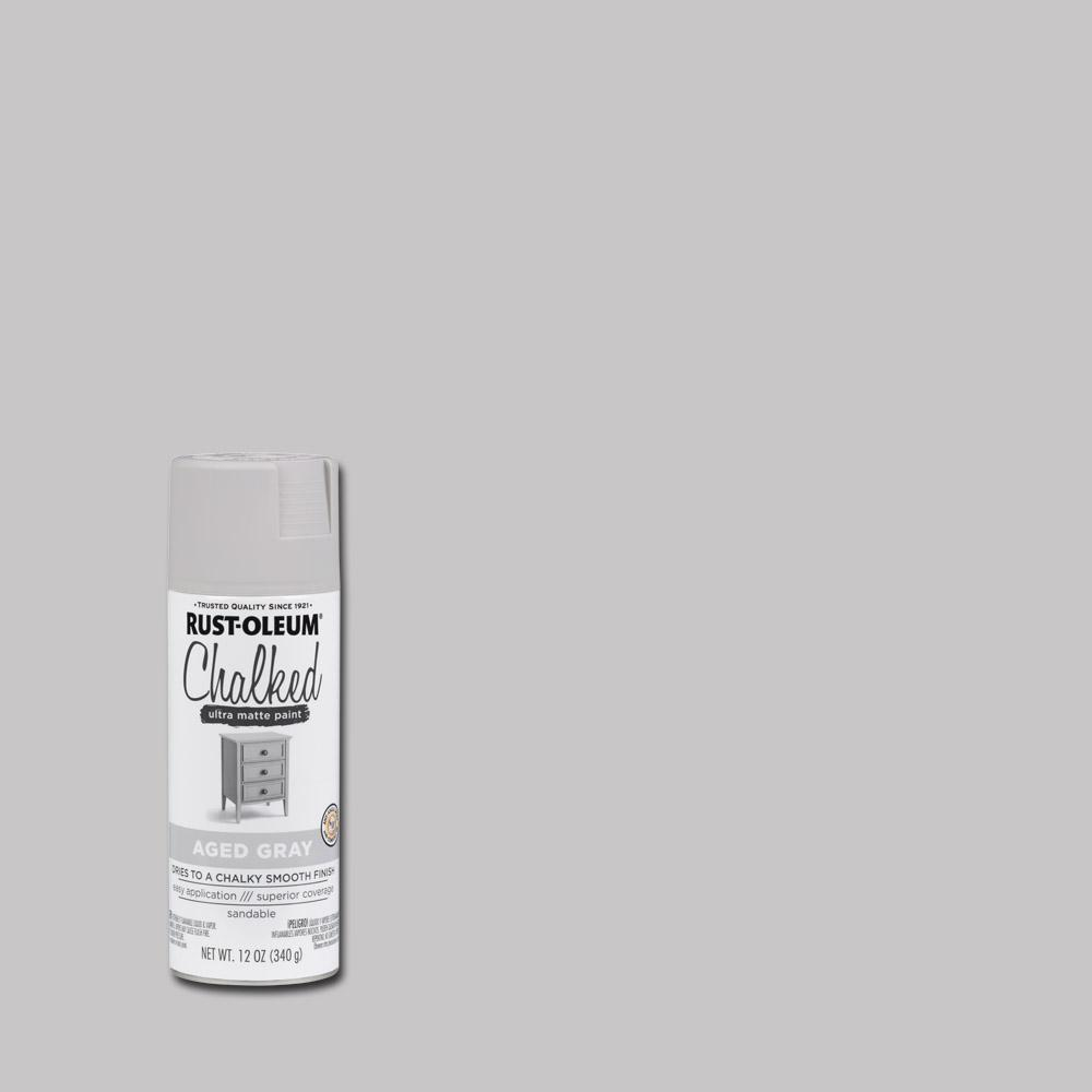 12 oz. Chalked Aged Gray Ultra Matte Spray Paint