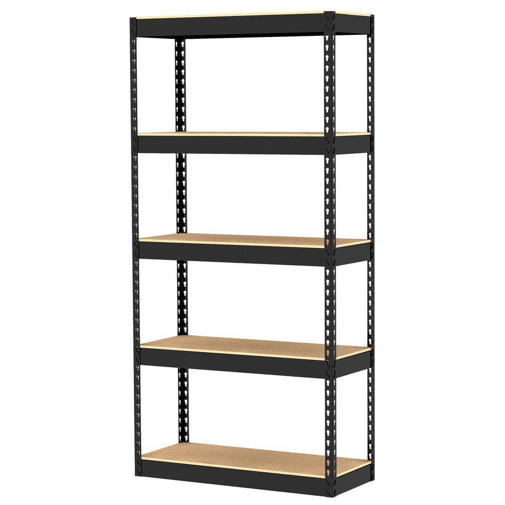 Gorilla Rack 5-Shelf 34 in. x 14 in. x 72 in. Freestanding Storage Unit-DISCONTINUED