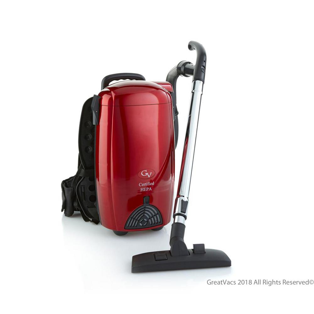 bcc30ccd399 GV Battery Powered 8 Qt. Commercial BackPack Vacuum Cleaner-GV8B RED ...