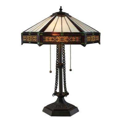 Filigree 22 in. Tiffany Bronze Table Lamp