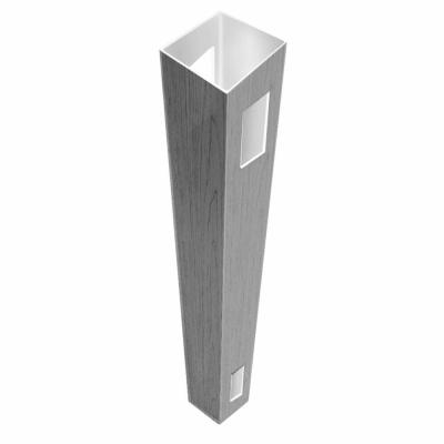 5 in. x 5 in. x 9 ft. Driftwood Gray Vinyl Fence Line Post