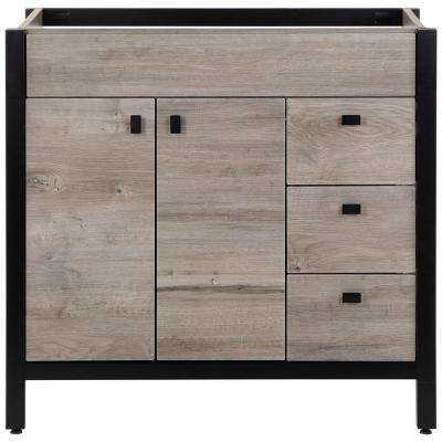 Greyford 36 in. W x 22 in. D Bathroom Vanity Cabinet Only in White Washed Oak