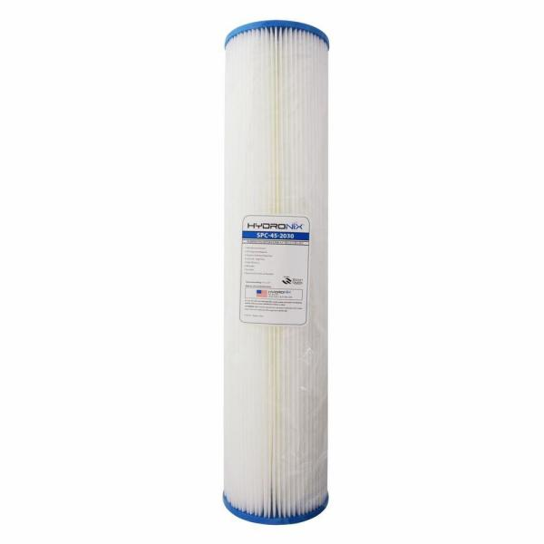 SPC-45-2030 4.5 in. x 20 in. 30 Micron Polyester Pleated Filter