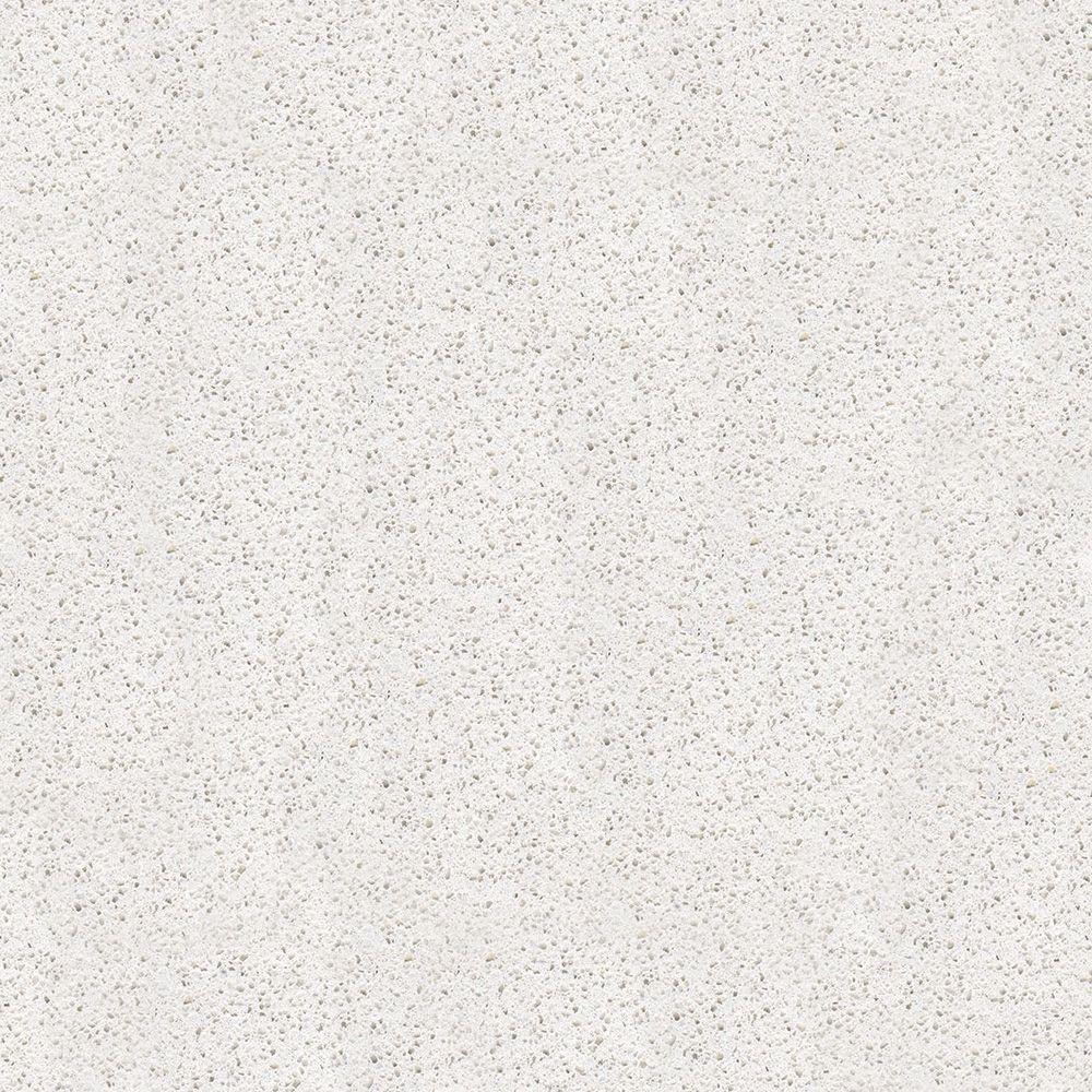 4 in. x 4 in. Natural Quartz Vanity Top Sample in Arctic Lace