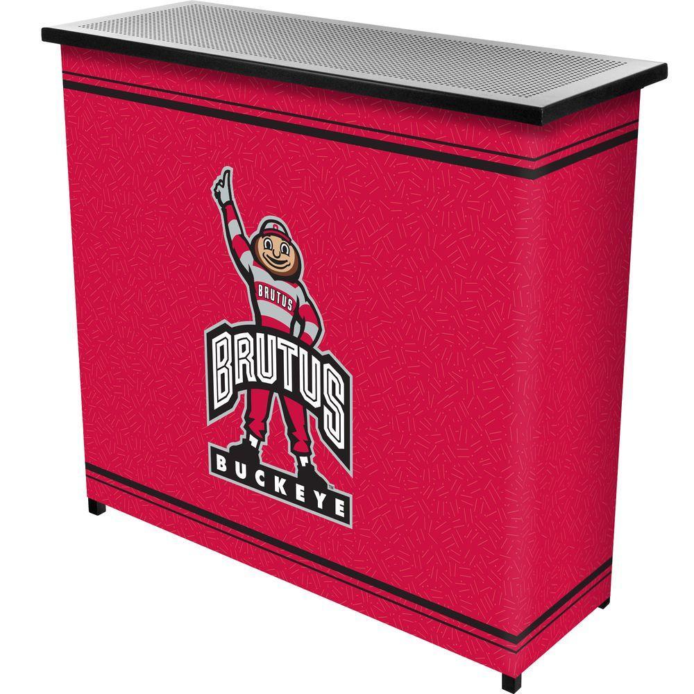 The Ohio State University 2-Shelf Black Bar with Case