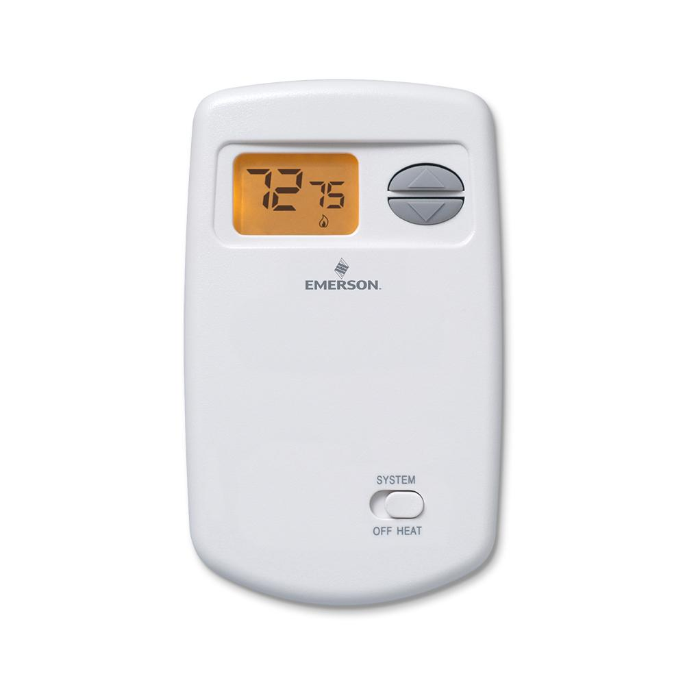 Heat Only - Non-Programmable Thermostats - Thermostats - The Home Depot