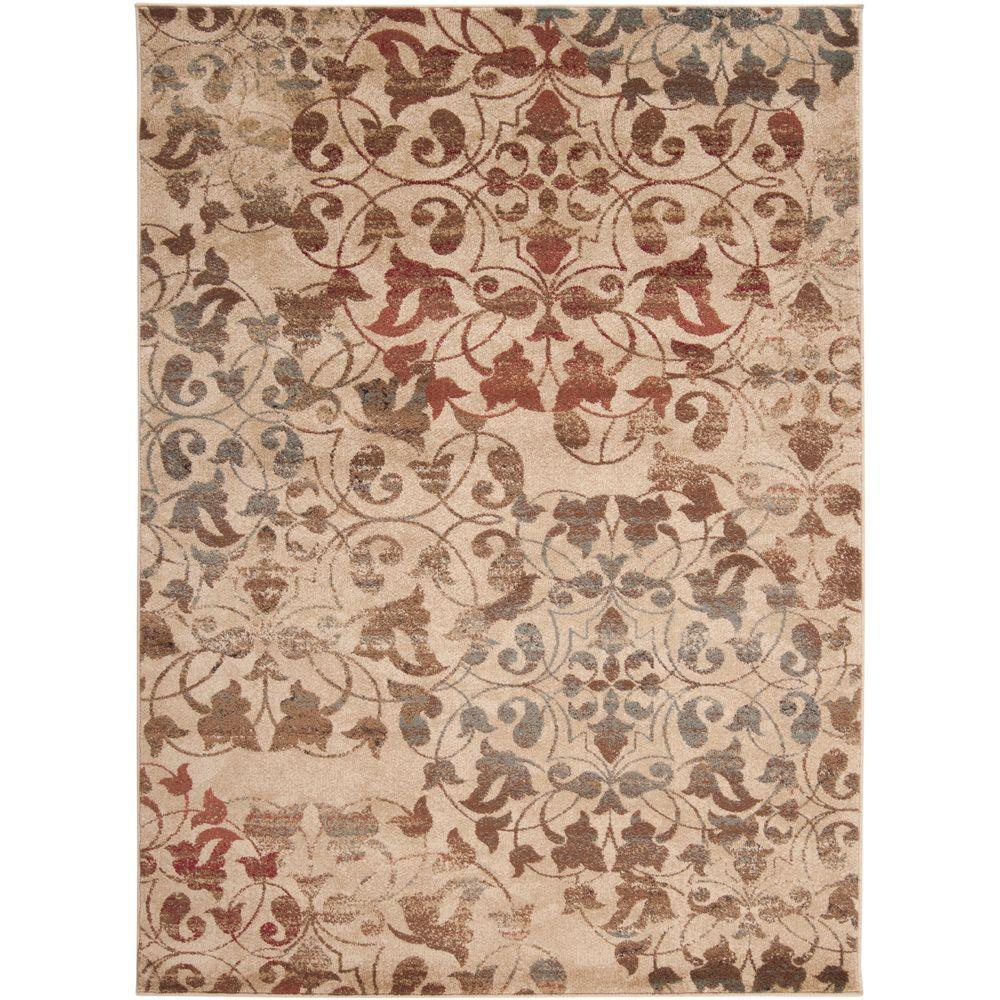 Artistic Weavers Frutillar Tea Leaves 6 ft. 6 in. x 9 ft. 8 in. Area Rug