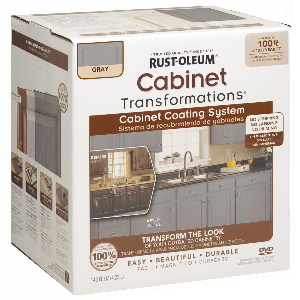 Painting Kitchen Cabinets With Rustoleum: Rust-Oleum Transformations 1 Qt. Gray Cabinet Small Kit