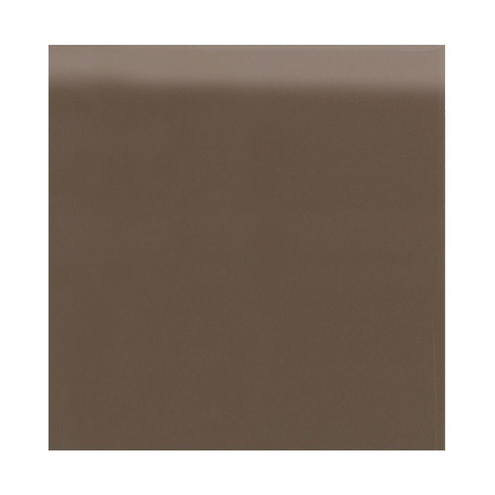 Semi-Gloss Artisan Brown 4-1/4 in. x 4-1/4 in. Ceramic Bullnose Wall