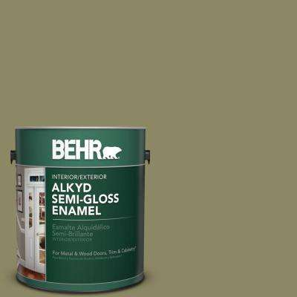 1 gal. #PPU9-23 Oregano Spice Semi-Gloss Enamel Alkyd Interior/Exterior Paint