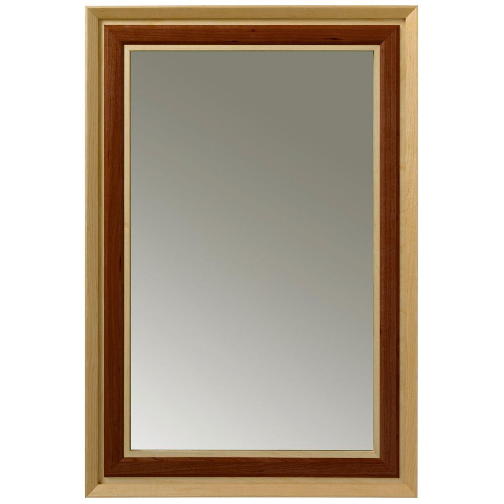 Porcher Lutezia Modernique 34 in. L x 24 in. W Framed Wall Mirror in Maple-DISCONTINUED