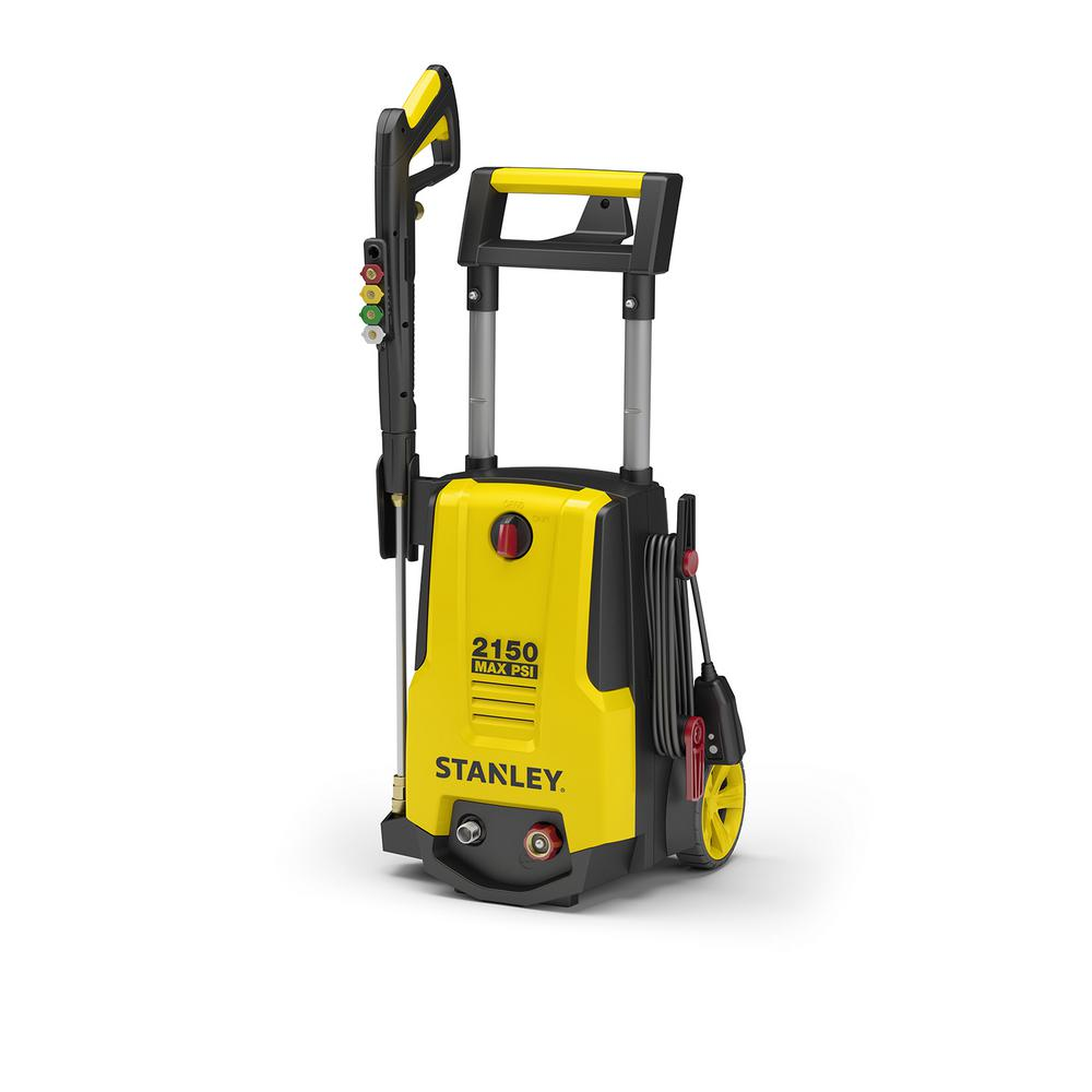 Stanley 2150 psi 1.4 GPM Electric Pressure Washer with Included Soap Foam Cannon, 25 ft. Hose, Spray Gun, Nozzles and More