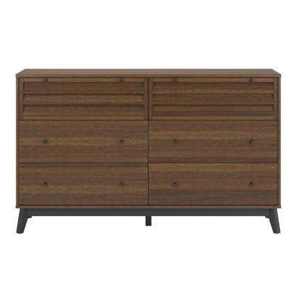 Ordinaire Vaughn 6 Drawer Walnut Dresser