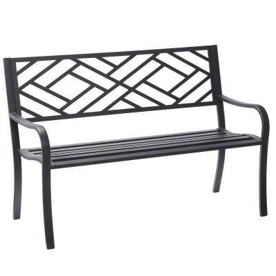 Easterly Steel Black Outdoor Bench