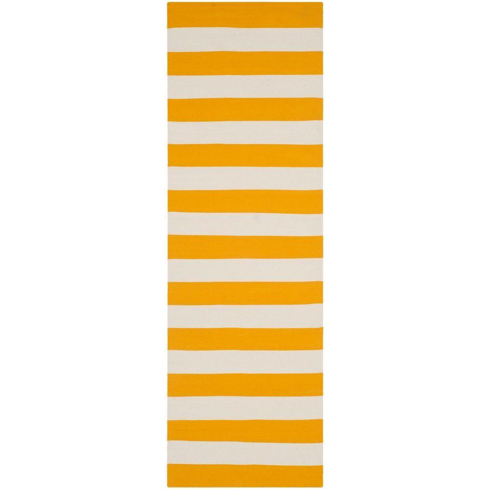 Montauk Yellow/Ivory 2 ft. x 9 ft. Runner Rug