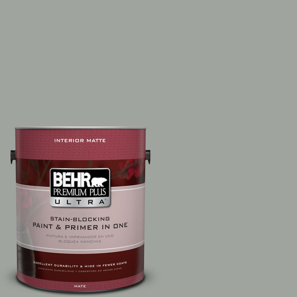 1 gal. #710F-4 Sage Gray Flat/Matte Interior Paint