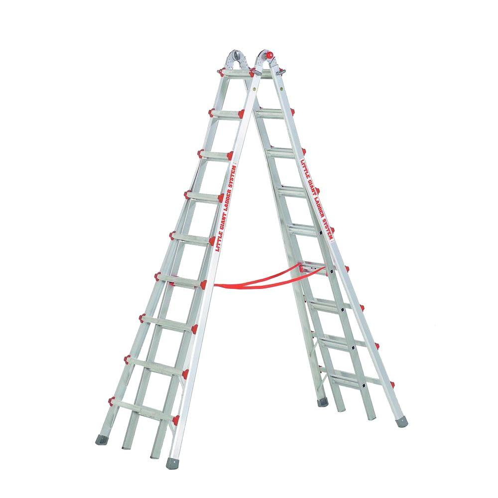 Werner 16 Ft Aluminum Folding Multi Position Ladder With