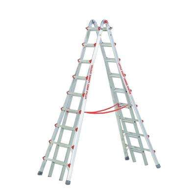 SkyScraper 17 ft. Aluminum Step Multi-Position Ladder with 300 lb. Load Capacity Type IA Duty Rating