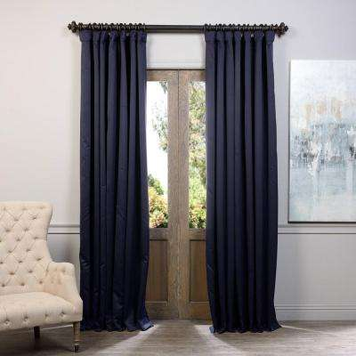 Semi-Opaque Navy Blue Doublewide Blackout Curtain - 100 in. W x 108 in. L (1 Panel)
