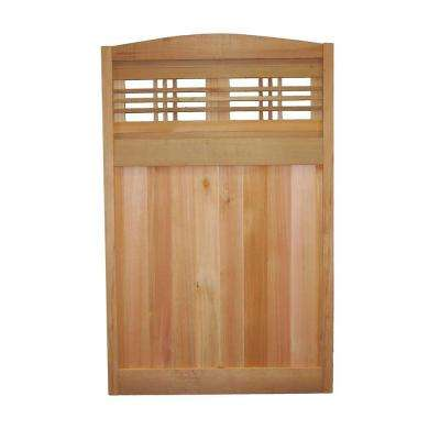 4 ft. x 2.5 ft. Western Red Cedar Arch Top Fence Panel