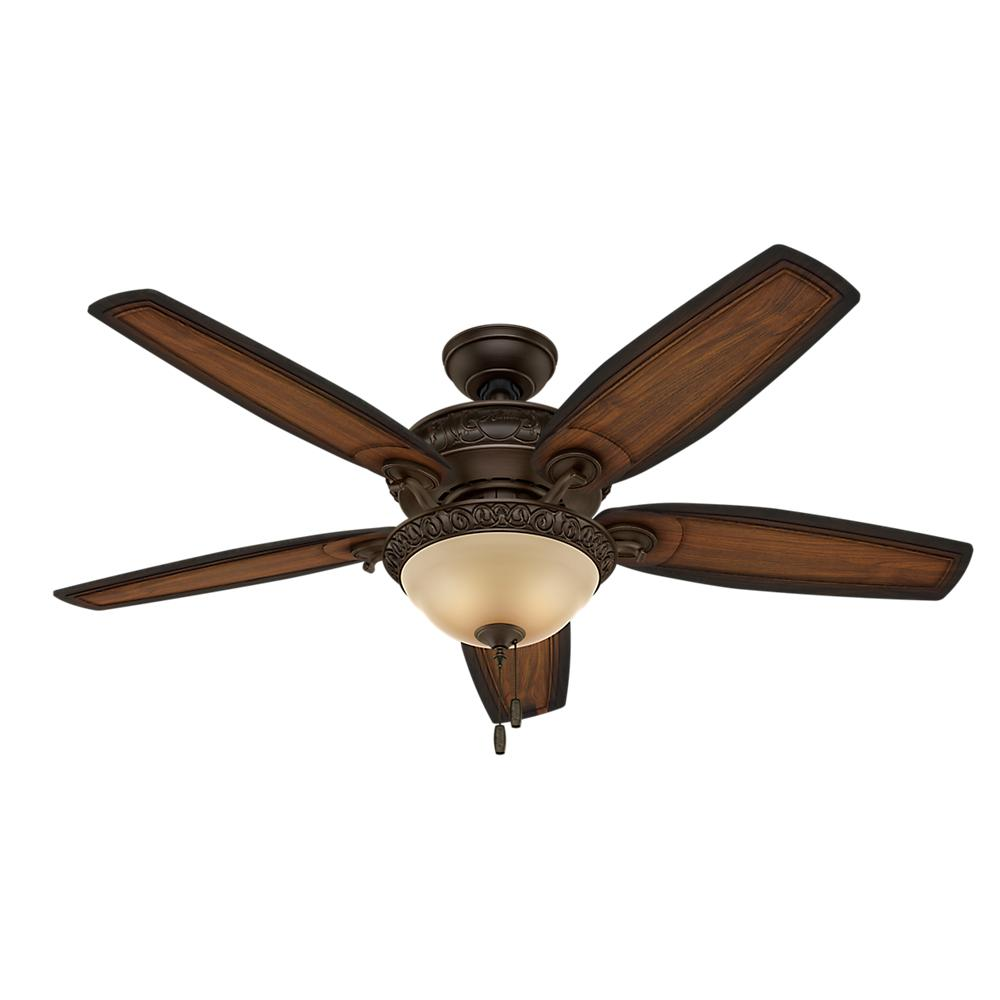 Claymore 54 in. Indoor Brushed Cocoa Ceiling Fan