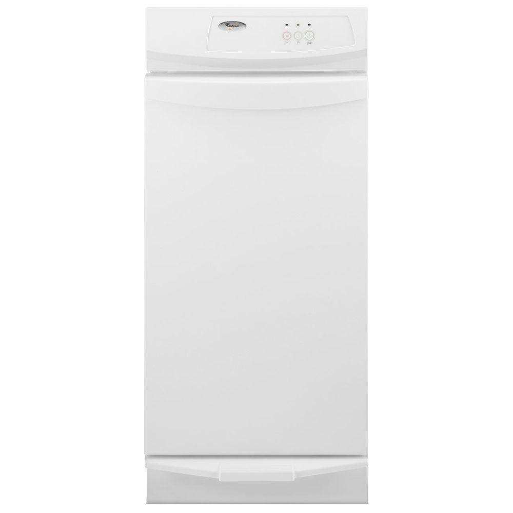 Whirlpool 15 in. Freestanding Trash Compactor in White