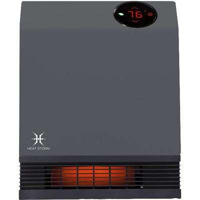 1,000-Watt Gray Deluxe Indoor Infrared Wall Heater
