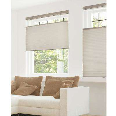 Cut-to-Width Warm Cocoa 9/16 in. Privacy and Light Filtering Cordless Cellular Shades - 72 in. W x 72 in. L