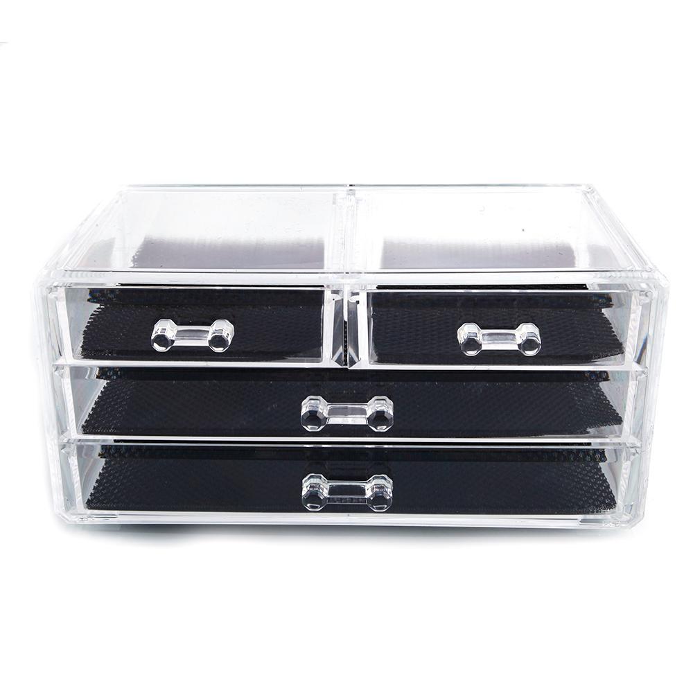 Exceptionnel SF 1005 2 Transparent Plastic Cosmetics Storage