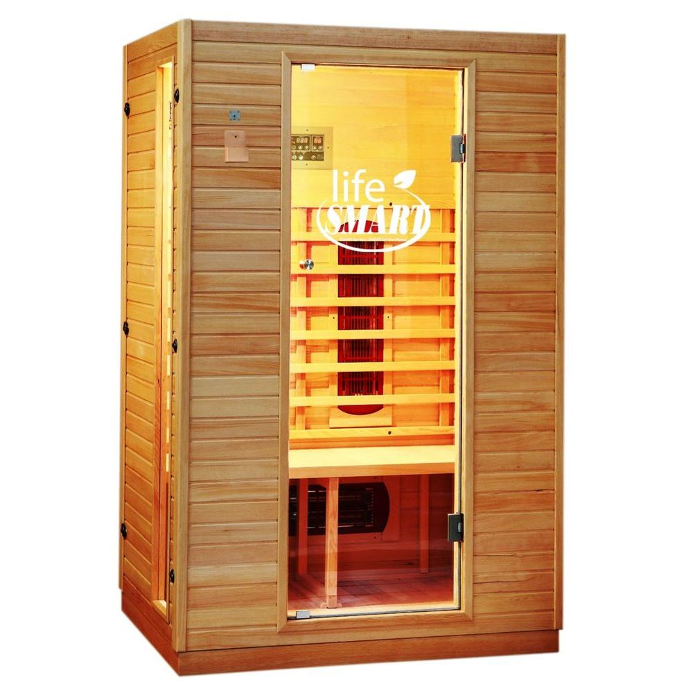Lifesmart 2-Person Infrared Sauna with Ceramic Heaters and MP3 Sound System