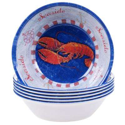 Maritime Lobster Ice Cream and Cereal Bowl (Set of 6)